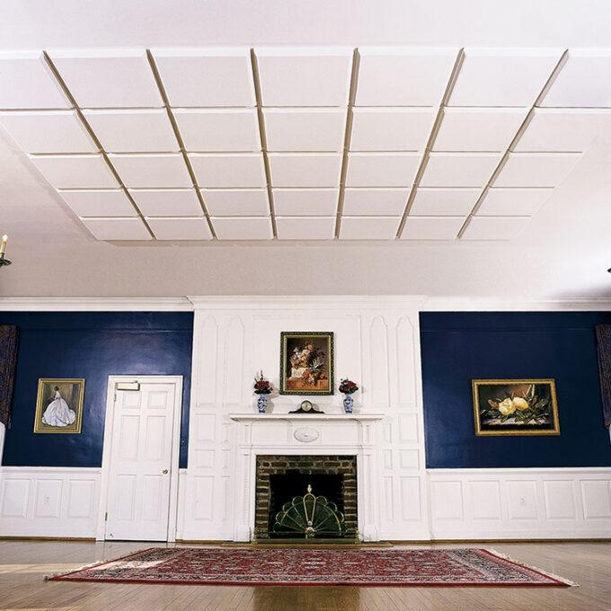 ballroom glue up ceiling tiles