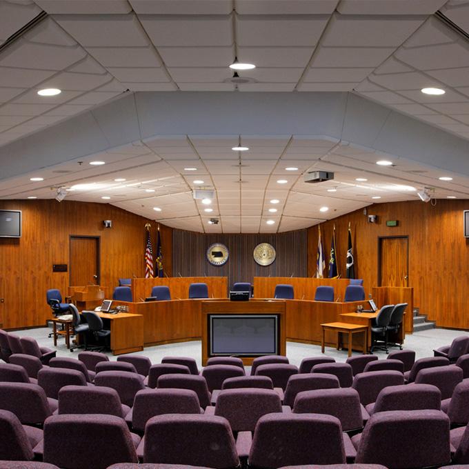 Court government center noise control