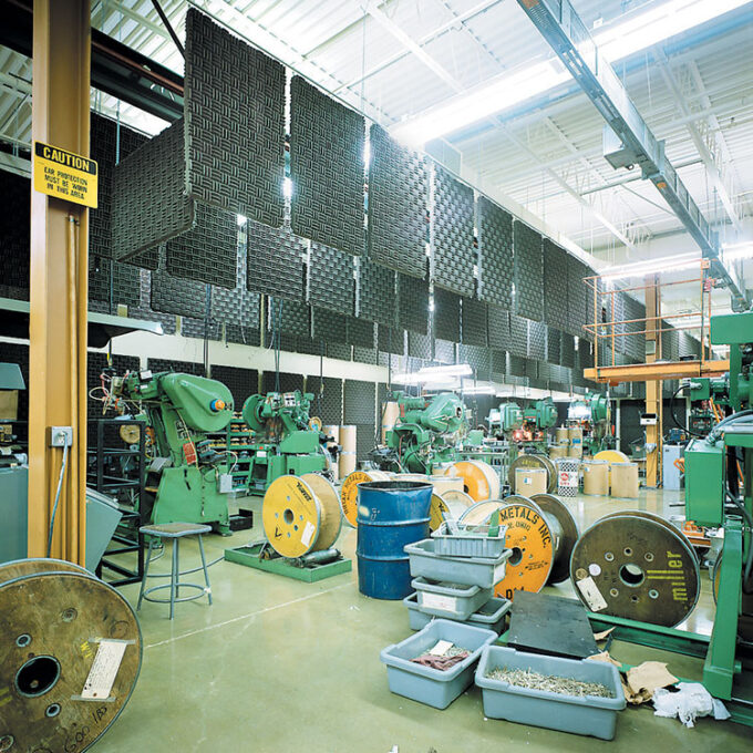 Acoustics for Noisy Manufacturing Areas and Warehouses