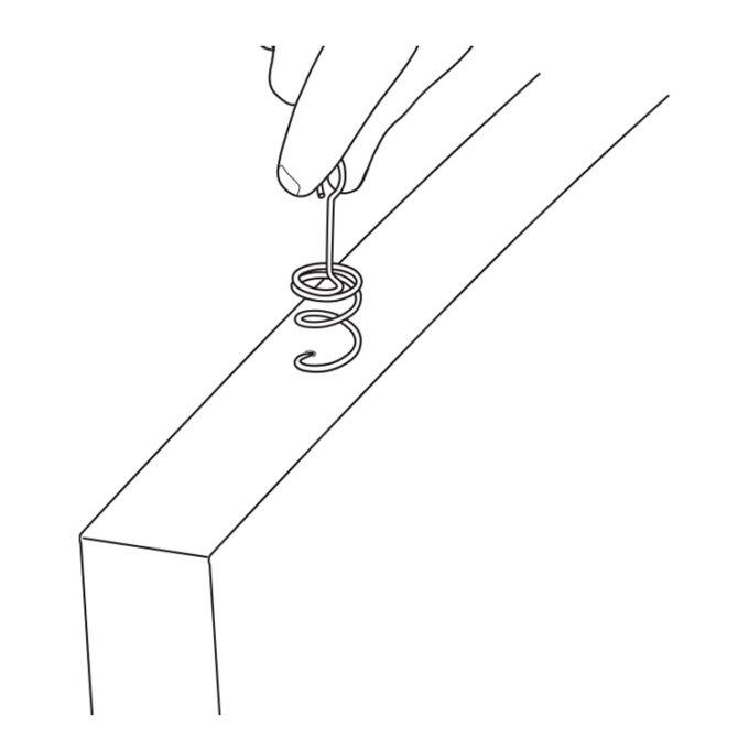 Baffle installation corkscrew